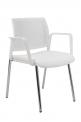 Konferenční židle Kent Prokur (síťovaný opěrák, bílá) - SLEVA nebo DÁREK a DOPRAVA ZDARMA