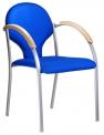 Konferenční židle Neon kostra šedý plast