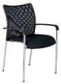 Konferenční židle TRINITY s područkami - BLACK27