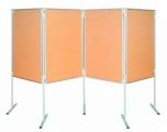 Korkový paravan oboustranná tabule na nohách 150 x 100 cm