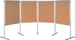 Korkový paravan oboustranná tabule na nohách