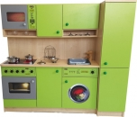 Kuchyň s pračkou a lednicí - 142x125x38cm  0L430M