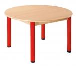 Kulatý dřevěný stůl s rektifikační patkou průměr 100 cm - x66.5hh.color