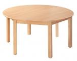 Dětský kulatý dřevěný stůl s masivní podnoží průměr 120 cm - x16.9XX.barva