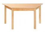 Dětský lichoběžníkový dřevěný stůl s masivní podnoží 120x60 cm - M16.4xx.
