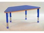 Lichoběžníkový dřevěný stůl s rektifikací 112(65)x53 cm
