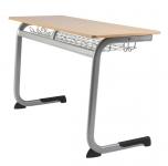 LISA školní pracovní lavice pevná dvoumístná
