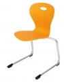 LOTUS pevná stohovatelná židle s plastovým sedákem