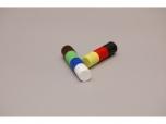 Magnety barevné nástěnné v plastu 18 mm sada 21 ks