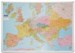 Mapa Evropy magnetická nástěnná popisovatelná 115x82 cm