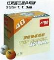 Míčky ping pong DHS 3 hvězdy -144 ks - 3032