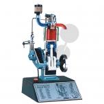 Model čtyřdobého dieselového motoru