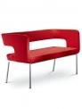 Konferenční luxusní dvoumístná lavice pohovka Next/2K - N2 - SLEVA nebo DÁREK a DOPRAVA ZDARMA