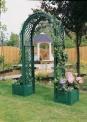 Oblouk na růže s truhlíky na rostliny - zelený