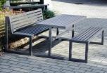 Ocelové lavičky se stolem Sinus
