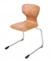 PAG pevná stohovatelná židle s vysoce odolným sedákem