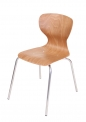 PAG pevná stohovatelná židle s vysoce odolným sedákem, čtyřnožka