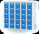 Pětidílný plechový, pětadvaceti boxový minibox na soklu MB 20 5 5 O (91,1cm)