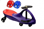 PlasmaCar fialové vozítko s volantem a přilbou