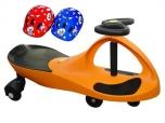 PlasmaCar oranžové vozítko s volantem a přilbou