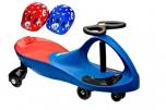 PlasmaCar modré vozítko s volantem a přilbou