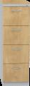 Plechová registrační skříň, čtyřdílná REG_44_L
