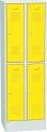 Plechová šatní skříň dvoudílný, čtyřdvéřový SHS_32_A