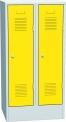 Plechová šatní skříň dvoudílná SAS_32C_A