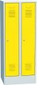 Plechová šatní skříň dvoudílná SAS_32D_A