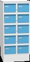Plechová skříň na kartotéky, desetidílná KAR_52_S5
