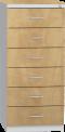 Plechová skříň na kartotéky, šestidílná KAR_52_C6_L