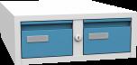 Plechová skříň na kartotéky, dvoudílná KAR_62_A