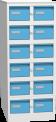 Plechová skříň na kartotéky, dvanáctidílná KAR_62_S6