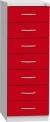 Plechová skříň na kartotéky, sedmidílná KAR_62_D7