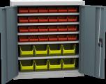 Plechová skříň s plastovými zásobníky SPP 03