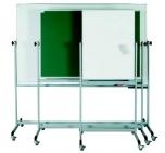 Oboustranná magnetická mobilní pojízdná tabule K keramický povrch 75x100 cm