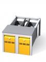 Předlavičky (podstavce) šatních skříní POD 50 S (pro modul 50 cm)