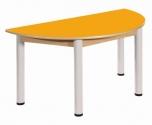 Půlkulatý stůl 120 x 60 cm výškově stavitelné nohy 36 - 52 cm - x56.63652