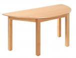 Dětský půlkulatý dřevěný stůl s masivní podnoží 120x60 cm - M16.6xx.