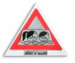 Reflexní samolepka - Pozor děti v autě