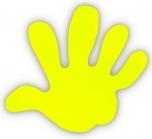 Reflexní samolepky - Ruka žlutá