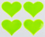 Reflexní samolepky - Srdíčko žluté