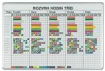Rozvrhová magnetická školní tabule pro 26 tříd 8 vyučovacích hodin