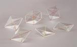 Sada 6 modelů krystalových sítí