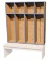 Šatní blok Denisa pro děti, dvou až pětimistný včetně lavičky 0L432M