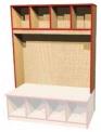 Šatní blok Magda pro děti, dvou až pětimístný včetně lavičky 027530200
