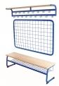 Šatní komplet lavice a odkládací věšák s háčky délka 200 cm