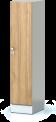 Šatní plechová skříň s naloženými dveřmi jednodílná, jednodveřová F1S 40 1 1 S AD (modul 40 cm)