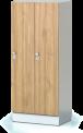 Šatní plechová skříň s naloženými dveřmi dvoudílná, dvoudveřová F1S 40 2 1 S AD (modul 80 cm)