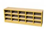 Sedací botník s boxy pro patnáct dětí 120x45x28 cm 0L971M